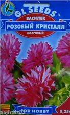 Seeds of Bluet Terry pink Crystal 0,25 g ва�илек Annual flower S0284