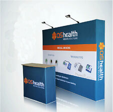 10ft Pop Up Trade Show Displays / Backdrop Wall / Fabric Exhibition Booth