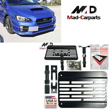 Bumper Tow Hook License Plate Mount Relocation Kit For Subura WRX STi Scion FR-S