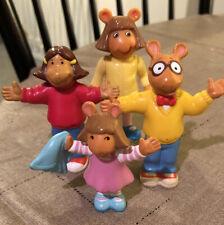 Arthur Aardvark Family 4 Pieces Marc Brown Pbs 90s Toys