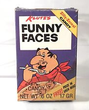 "Vintage Klutz's Zilly Zereals 3"" Funny Faces Mini Candy Gum Box 1985 Fun Foods"