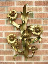 VTG Italian Tole GOLD GILT METAL Candelabra SCONCE Candle Holder MID CENTURY MOD