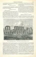 Ruines Aqueduc Romain Mérida Badajoz Estrémadure Espagne/Lancelot GRAVURE 1871