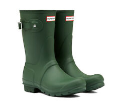 WAREHOUSE SALE New Ladies Short Hunter Wellies Wellington Boots Green Size 5