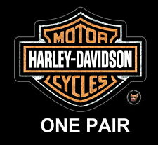 HARLEY DAVIDSON BAR AND SHIELD DECAL 2 PEICE HOLOGRAPHIX ** MADE IN THE USA **