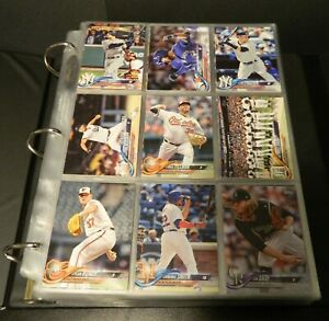 2018 Topps - Series 1 & 2 - Hand Collected Set - Base Only - Ultra Pro Binder