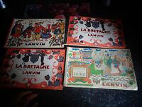 Déstockage Lot d'Albums d'Images Chocolat Lanvin Guyenne Gascogne Bretagne Loire