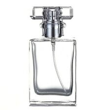 30ml Empty Glass Perfume Spray Bottle Atomizer Refillable Clear Rectangular