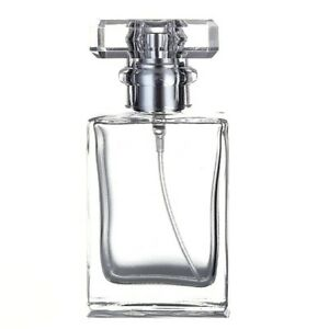 30ml Empty Glass Perfume Spray Bottle Atomizer Refillable Clear Rectangular