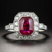 Fashion 925 Silver Ruby Gemstone Queen Wedding Engagement Ring Wholesale !!