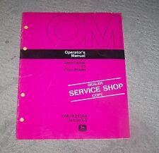 John Deere 45 Rear Blade Operators Manual  Used