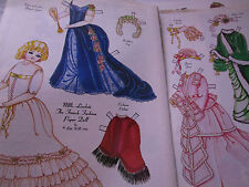 Vtg 1984 Bette Wills French Fashion Paper Doll Mlls. Lisabete  UNCUT