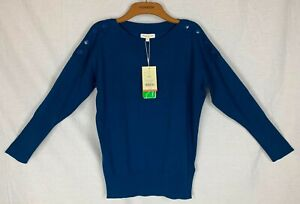 MONSOON 'PATSY' Womens Teal Blue Party Jumper SMALL NEW
