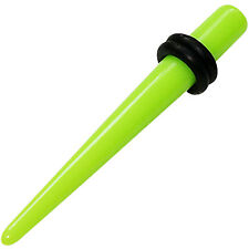 Neon Yellow Green Ear Lobe Stretcher Expander Taper Plug Stud Body Spike Earring
