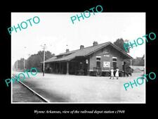 OLD 8x6 HISTORIC PHOTO OF WYNNE ARKANSAS THE RAILROAD DEPOT STATION c1940 2
