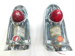 1956 chevy belair 210 150 tail light assemblies right & left #1 reconditioned
