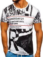 T-Shirt Tee Rundhals Kurzarm Classic Aufdruck Sommer Sport Herren BOLF 3C3 Motiv