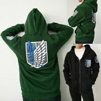 Attack On Titan Survey Corps Hoodie (Green or Black)