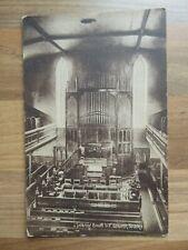 Interior South UF Church Buckie Postcard - J P Pozzi, Buckie