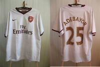 Arsenal London #25 Adebayor 2007/2008 away XL Nike football shirt jersey soccer