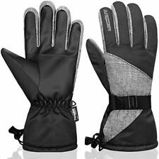 Anqier Winter Gloves for Women Thermal Waterproof Mens Ski Gloves 3M Size M