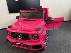 Kids New Licensed Mercedes Benz G63 AMG 12V Battery Electric Ride on Car Pink