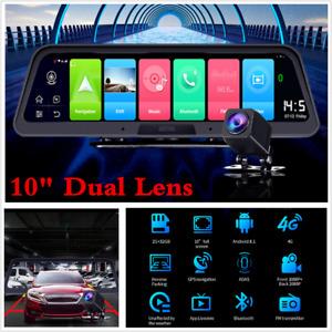 "Car Console 10"" Android 4G WIFI Car DVR Camera GPS ADAS +Rear Camera Dash Camera"