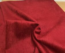 LAURA ASHLEY BEST QUALITY RED SOFT CHENILLE CURTAIN UPHOLSTERY FABRIC 3.8 METRES