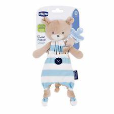 Chicco Pocket Friend Boy Bär blau Schnullerhalter & Kuscheltier 0M+