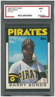 1986 Topps Traded ~ BARRY BONDS ~ #11T ~ Rookie  ~ BSG 7