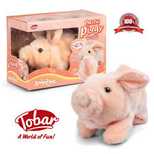Interactive Kids Plush Pink Pig Toy Walking Talking Soft Toy Animal Christmas