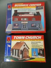 Life-Like HO Scale Town Church & Downtown Business Center Factory Sealed NEW