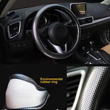Car Steering Wheel Cover PVC Foam + Carbon fiber leather Four Seasons Universal