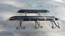 Set of 2 Vintage Suick Flat Bellied Muskie Fishing Lures