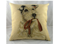 "18"" Irish Terrier with Lead Dog Puppy Belgian Tapestry Cushion Evans Lichfield"