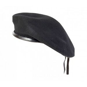 New WOOL Mens Ladies Black Beret Hat Cap Army Military - Fashion or Fancy Dress