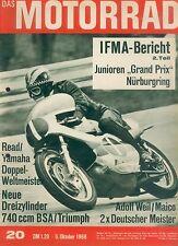 Motorrad 20 68 BSA Rocket 3 Triumph Trident Villa Weil 1968 british bikes Europa