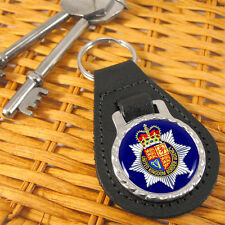 UK Border Agency Bonded Leather and Metal Key-fob