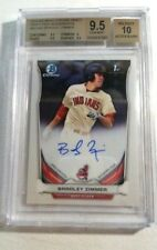 Bradley Zimmer 2014 Bowman Chrome Draft RC Rookie Autograph BGS 9.5 Gem Mint