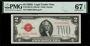 1928G $2 Legal Tender FR-1508 - Graded PMG 67 EPQ - Superb Gem Uncirculated