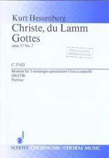 10 x Hessenberg: Christe, du Lamm Gottes. Passionsmotette; Noten gemischter Chor