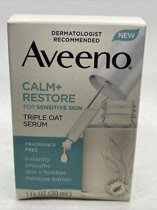 Aveeno Calm + Restore For Sensitive Skin Triple Oat Serum 1oz