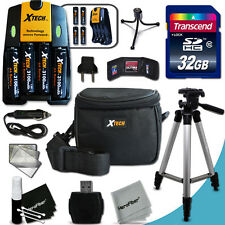 Xtech Accessories KIT for FUJI FinePix S2950 Ultimate w/32GB Memory + 4bt + MORE