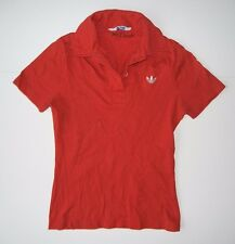 Vtg 70s ADIDAS Red Collared POLO SHIRT Size Kids YOUTH MEDIUM Boys Girls Soccer