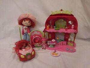 Strawberry Shortcake Berry Bitty Market Play Set + Car + Big Lot of Accessories