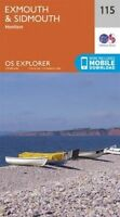 Exmouth and Sidmouth by Ordnance Survey (Sheet map, folded book, 2015)