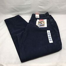 Wrangler Denim 18 x 32 Blue Jeans Relaxed Tapered Leg Fitted Waist Hip Thigh