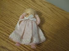 """HARD PLASTIC VINTAGE BABY DOLL 4"""" EYES OPEN & CLOSE SWEET CLOTHES"""