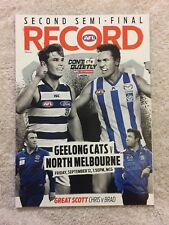 GEELONG Vs NORTH MELBOURNE 2ND SEMI FINAL 2014 AFL RECORD CATS V ROOS MCG
