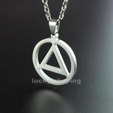 "Hip Hop Eminem Grammy Titanium Steel Triangle Pendant Necklace Free 24"" Chain"